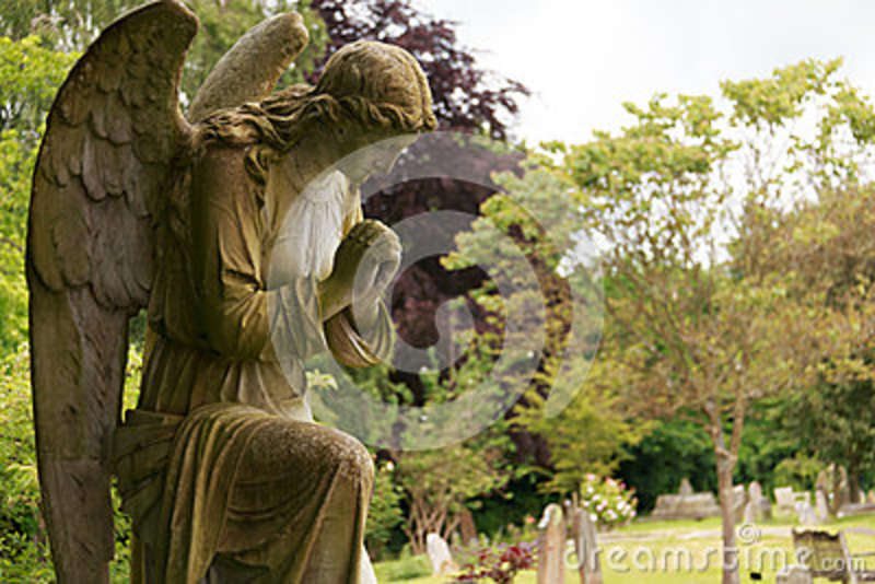 Full Stone angel in colour