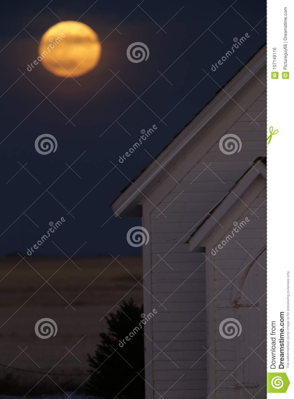Full Super Moon Stock Photo Image Of Background Church 107149116