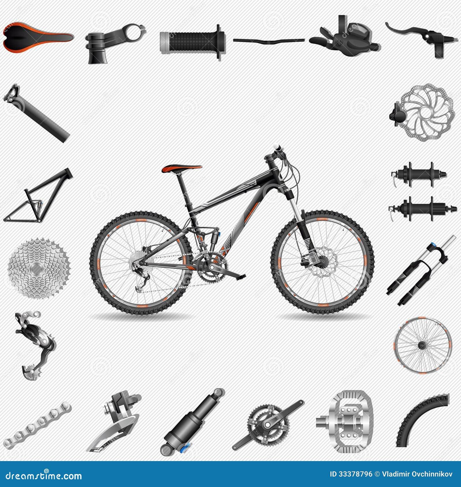 Full Suspension Mountain Bike Stock Vector Illustration Of Spare