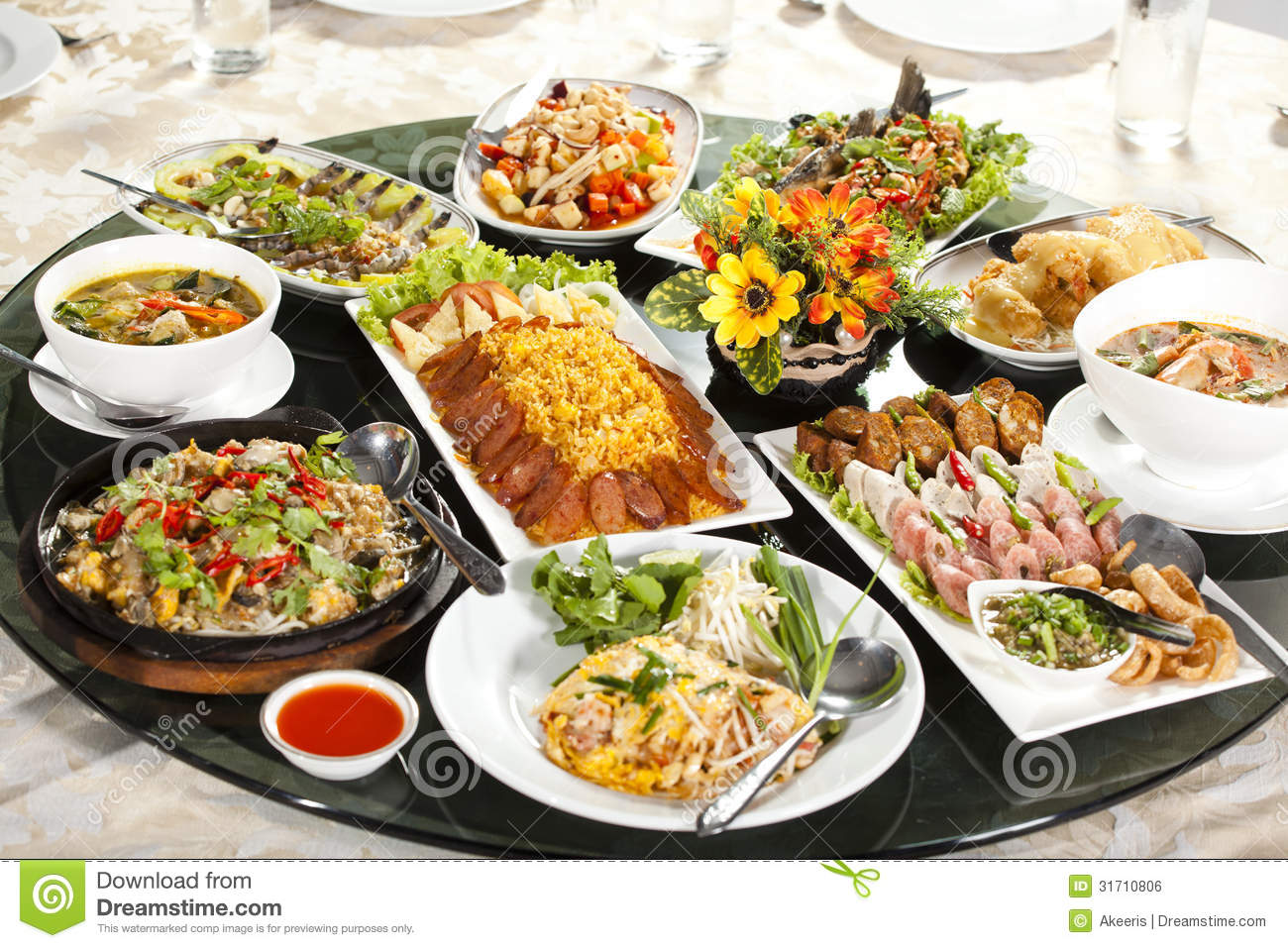 Full Table Royalty Free Stock Image Image 31710806