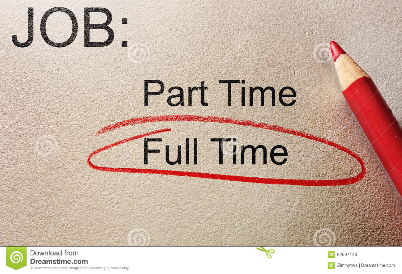 Full Time Job Stock Photo Image 62507143