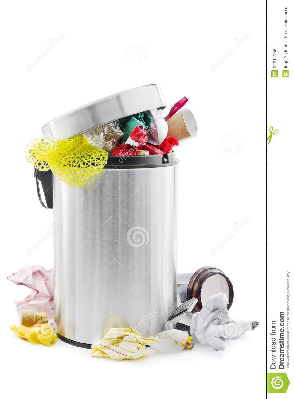 Full Trash Can Stock Photo Image Of Disposal Litter