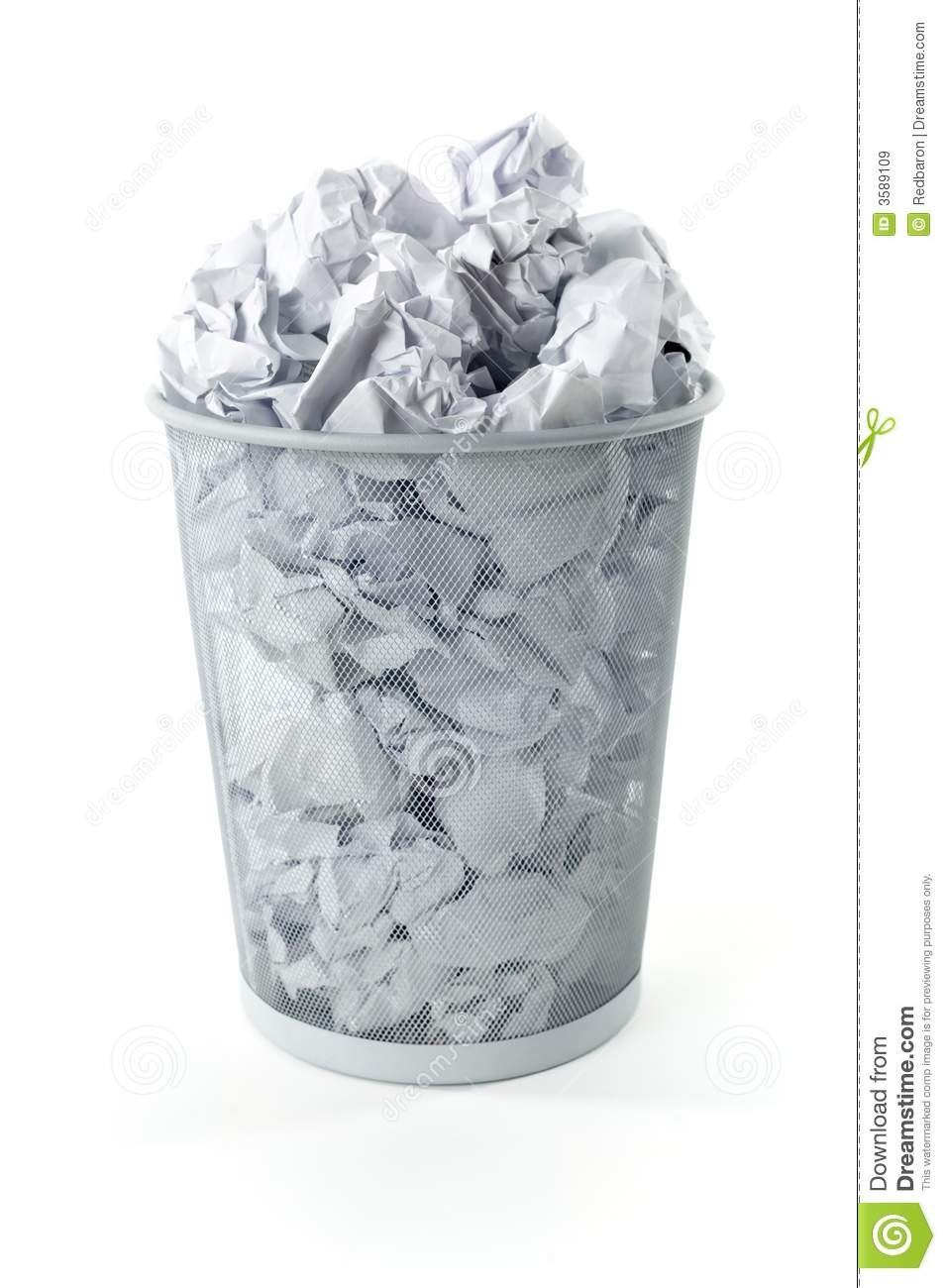 Full Trashcan Stock Image Image Of Isolated Metal