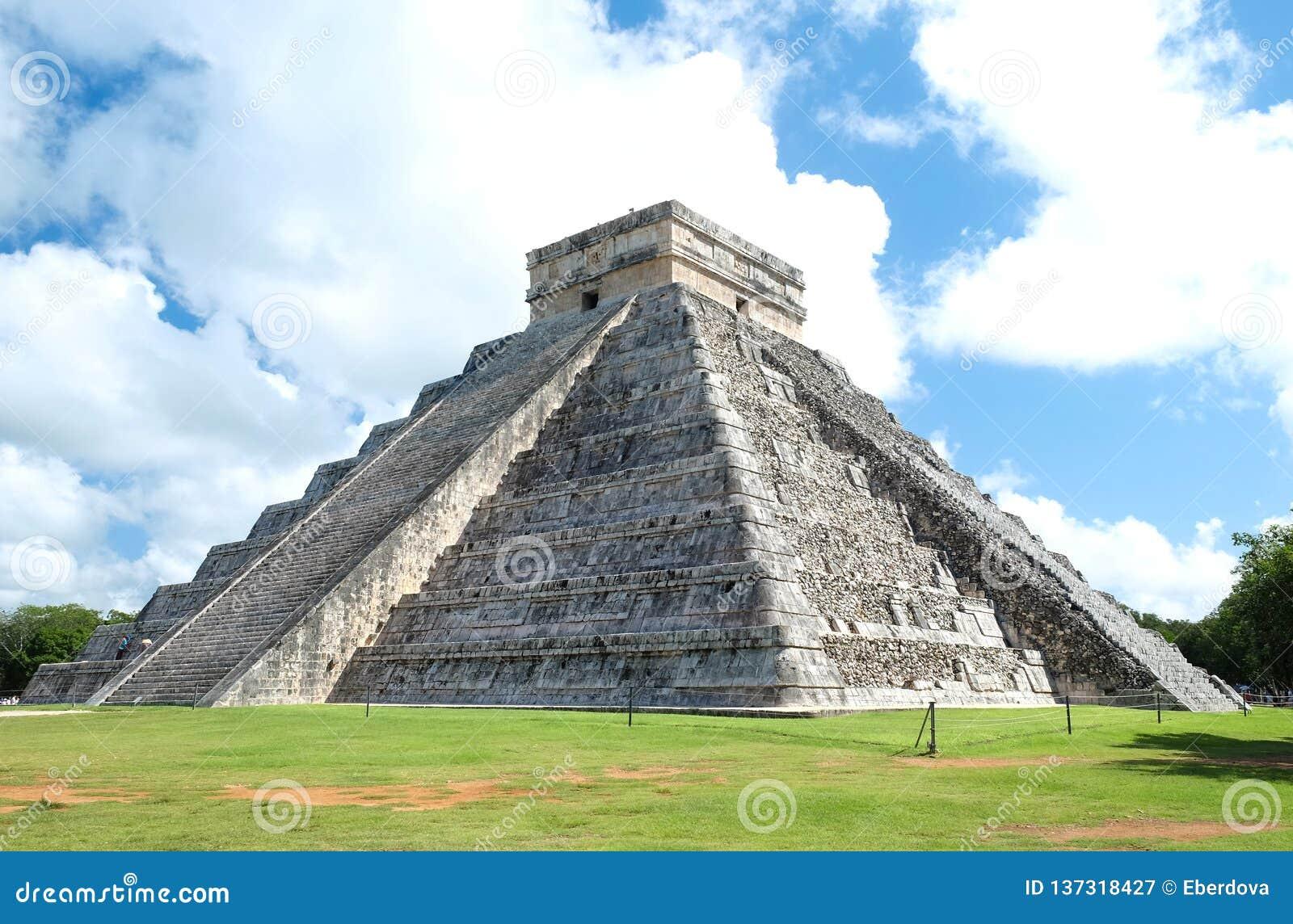 Full view of the El Castillo Pyramid