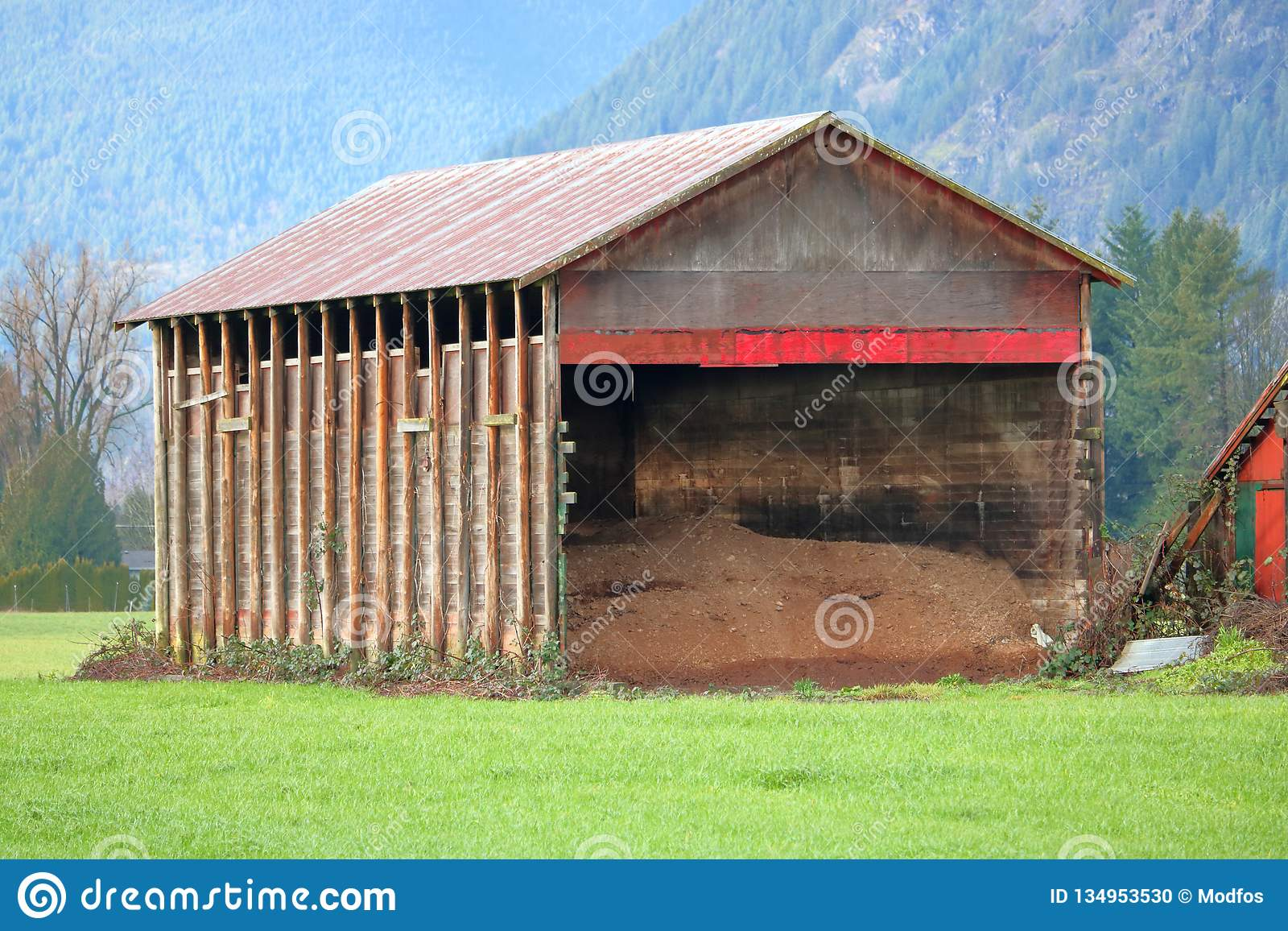Old Farm Storage Shed stock photo  Image of simple