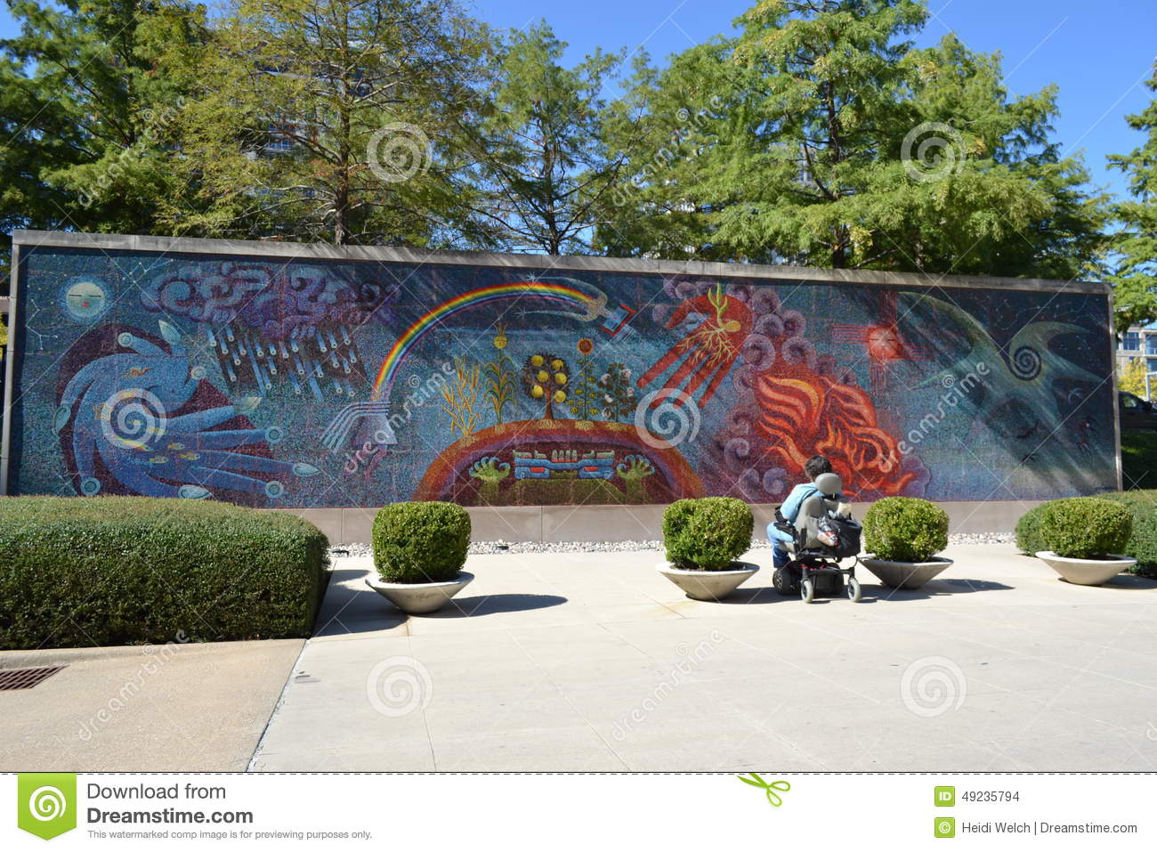 Full wall mural editorial stock image image 49235794 for Dallas mural artists