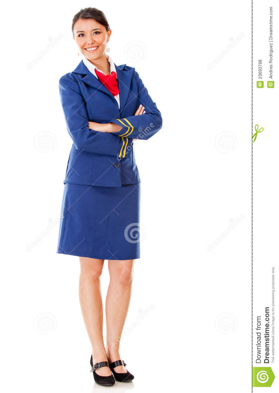 Fullbody Flight Attendant Stock Photo Image Of Outfit