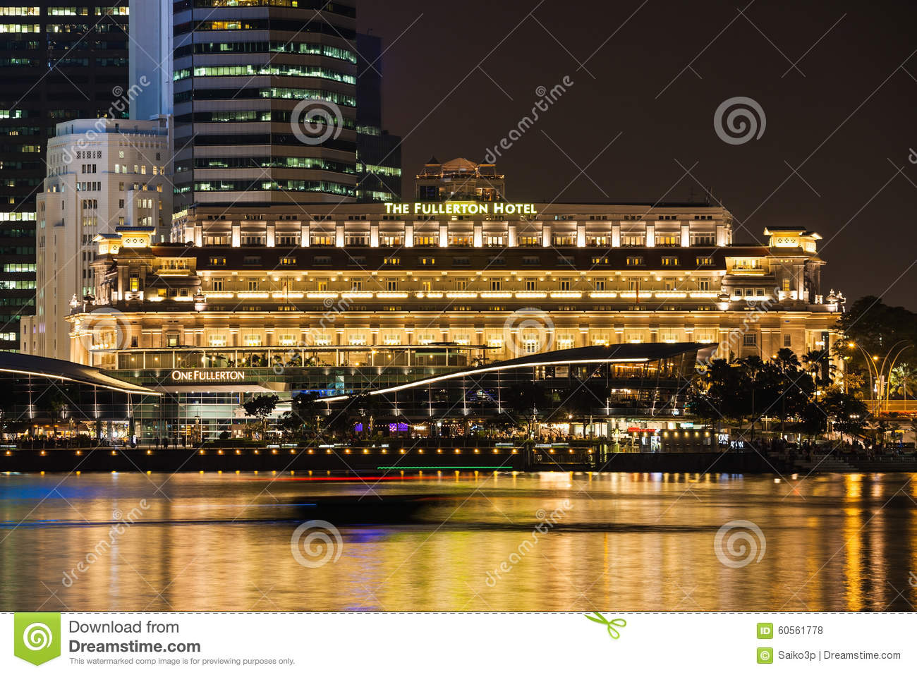 The fullerton hotel editorial stock photo for Five star hotels in singapore