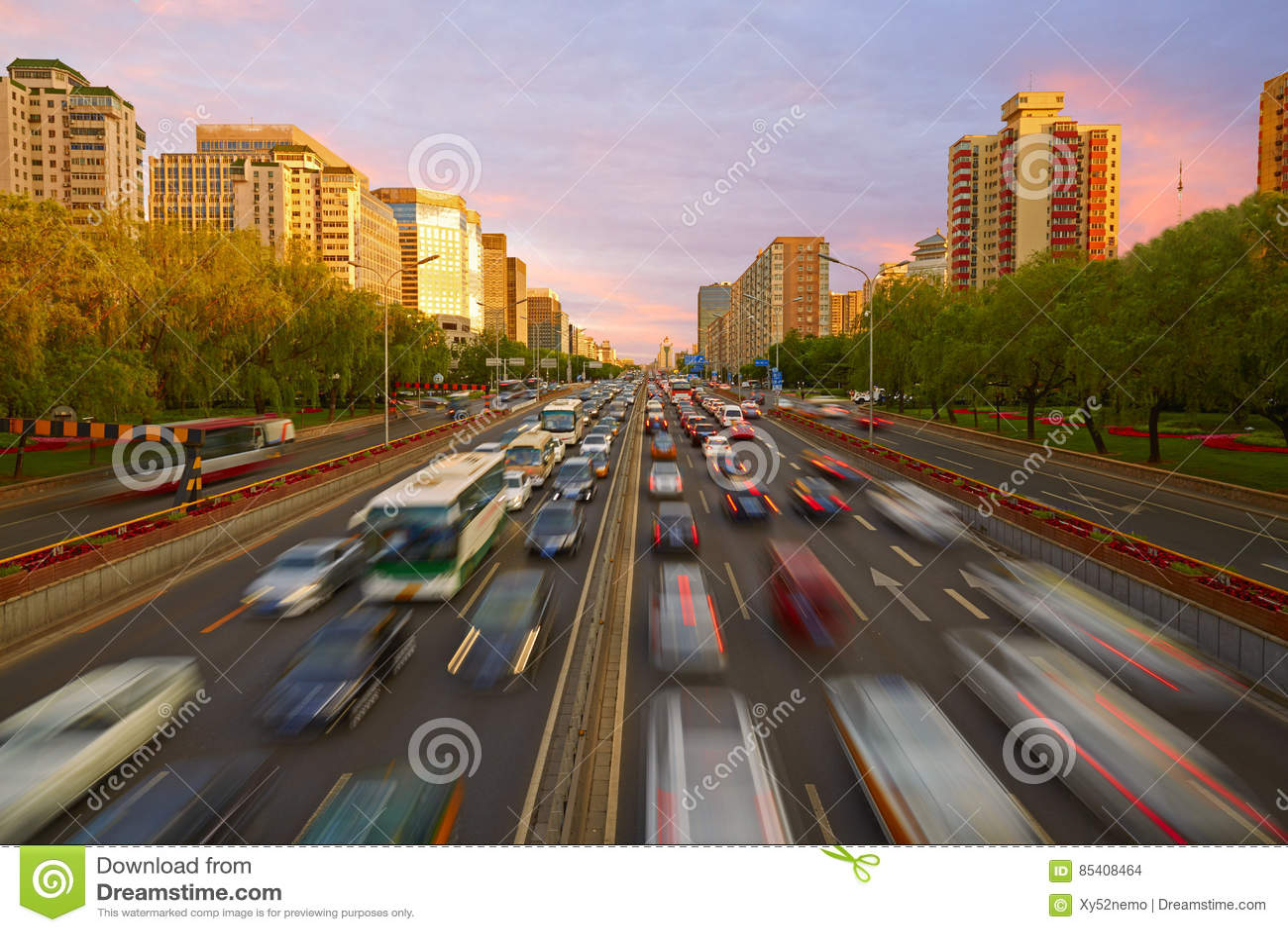 Fullsatt trafik, Peking