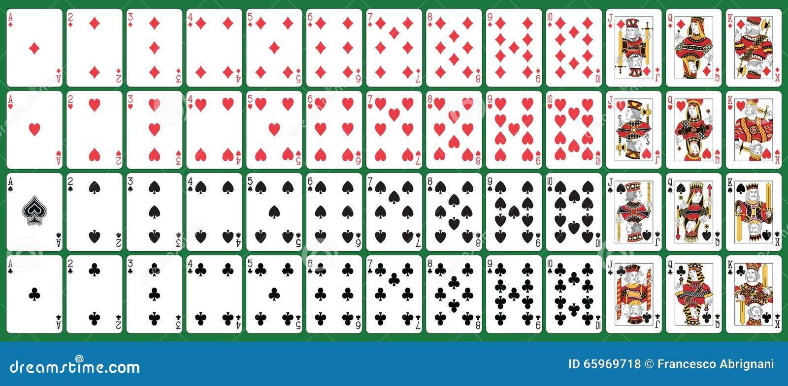 Fullt däck som spelar kort