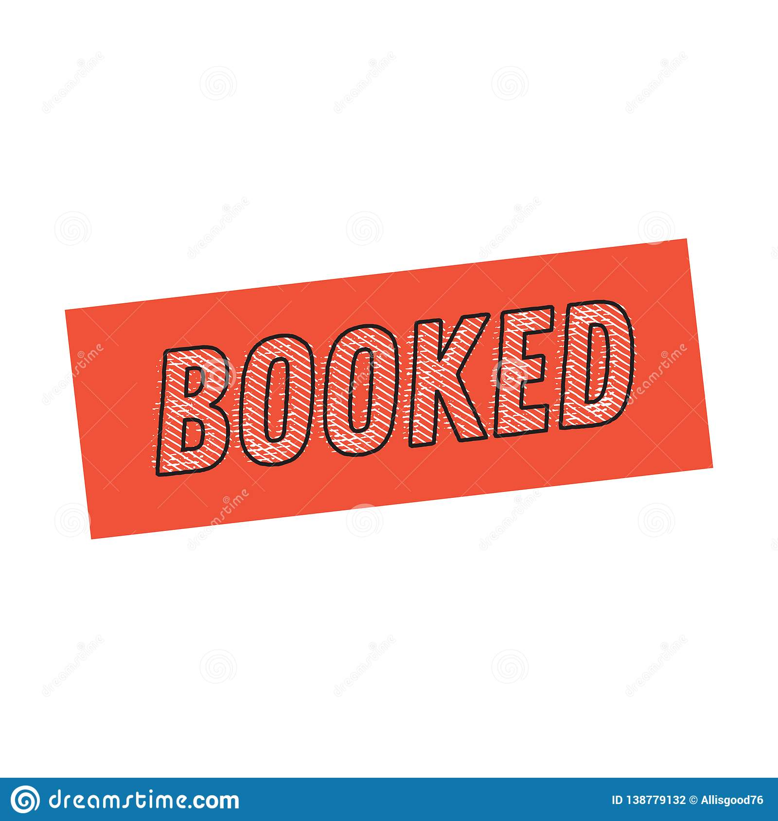 Fully Booked Vector Stamp Isolated On White Background