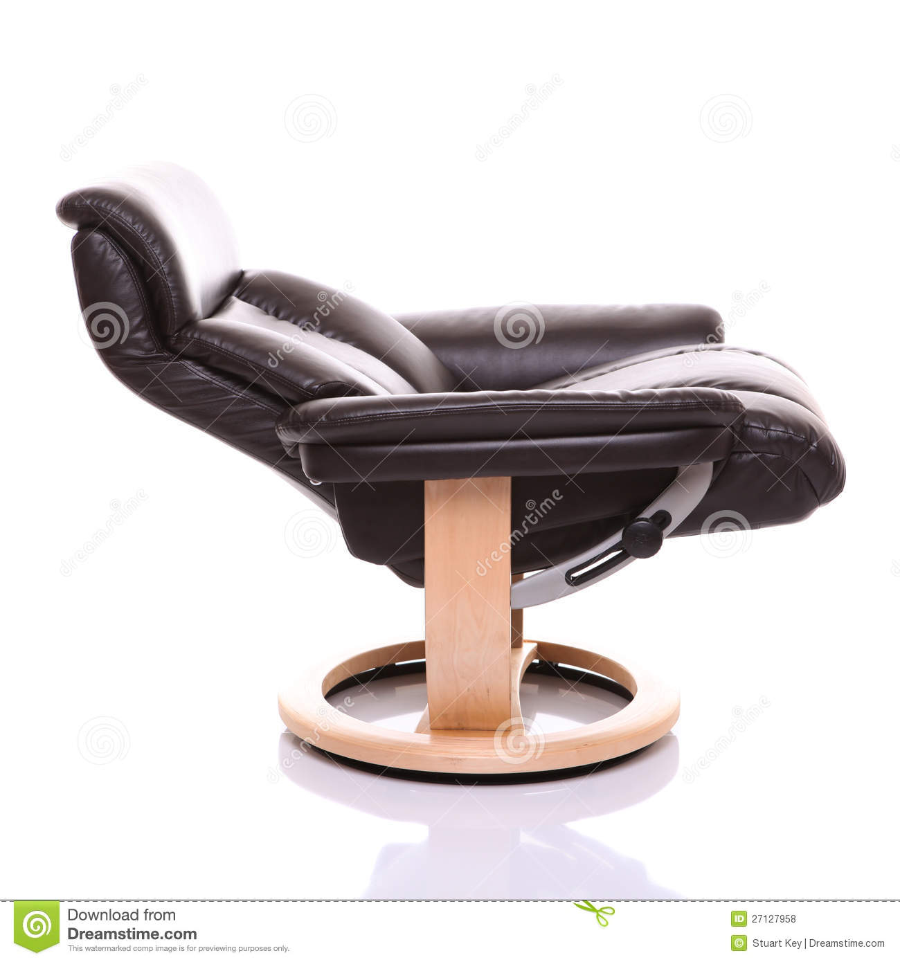 Fully Reclined Luxurious Leather Recliner Chair Royalty
