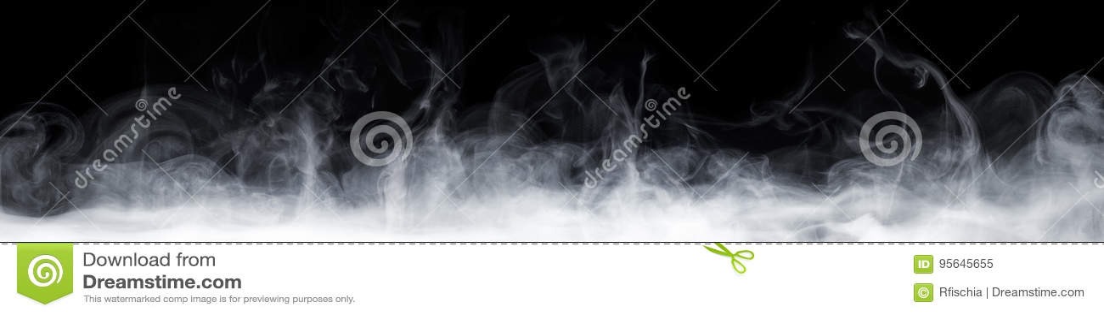 Fumée abstraite dans l obscurité