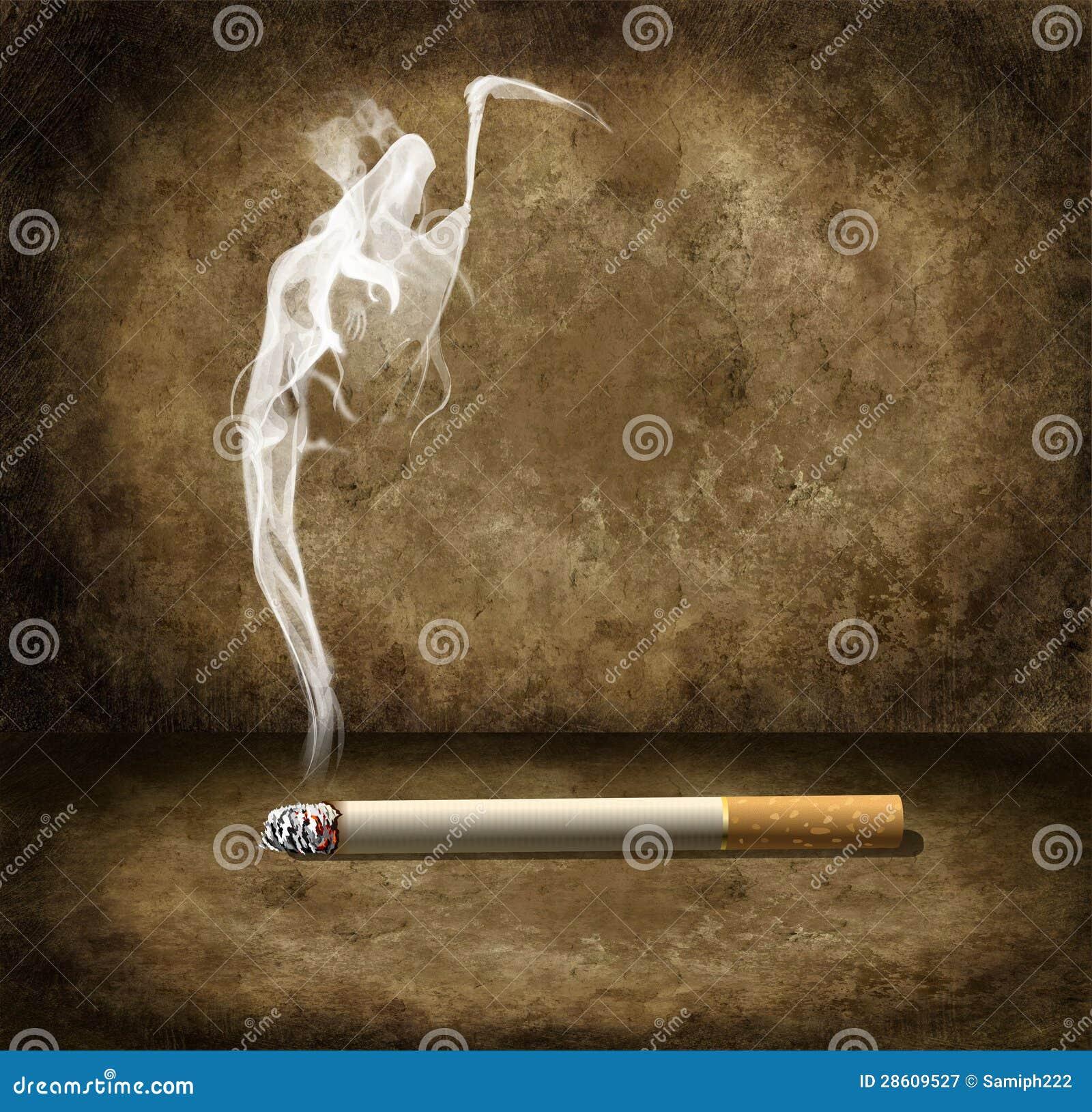 fum e de cigarette et de faucheuse illustration stock illustration du sant cigarettes 28609527. Black Bedroom Furniture Sets. Home Design Ideas