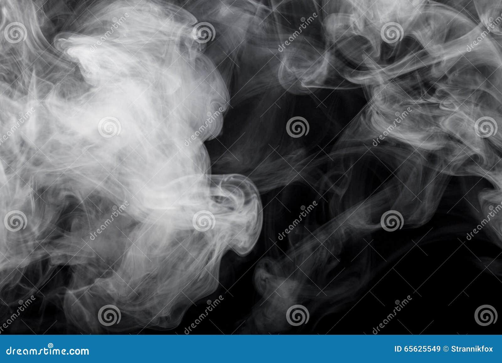Fumée noire de fond defocused