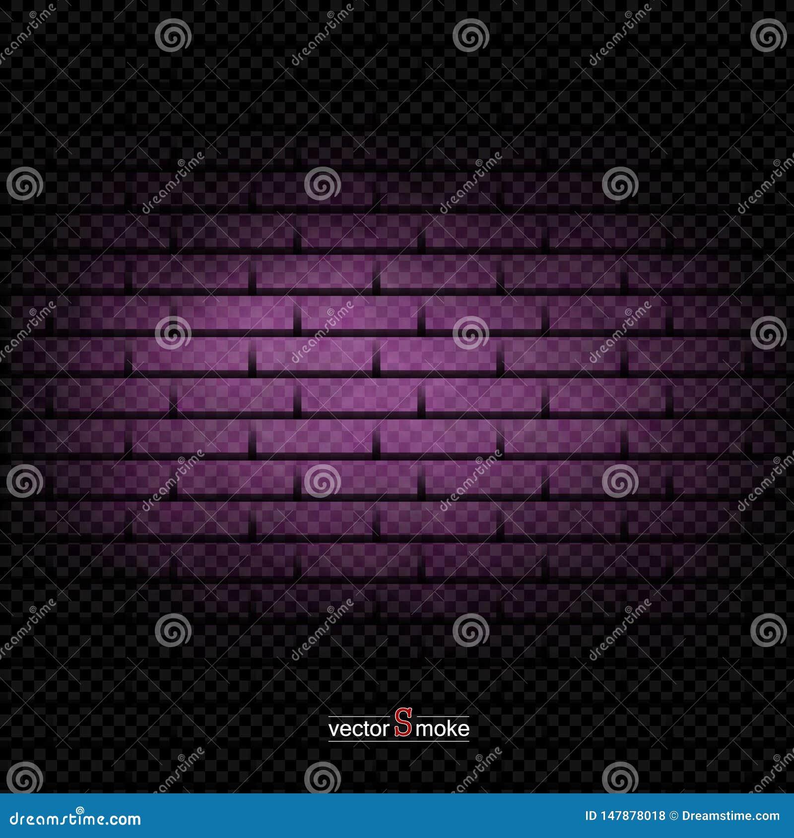 Fumée pourpre de fond de mur de briques