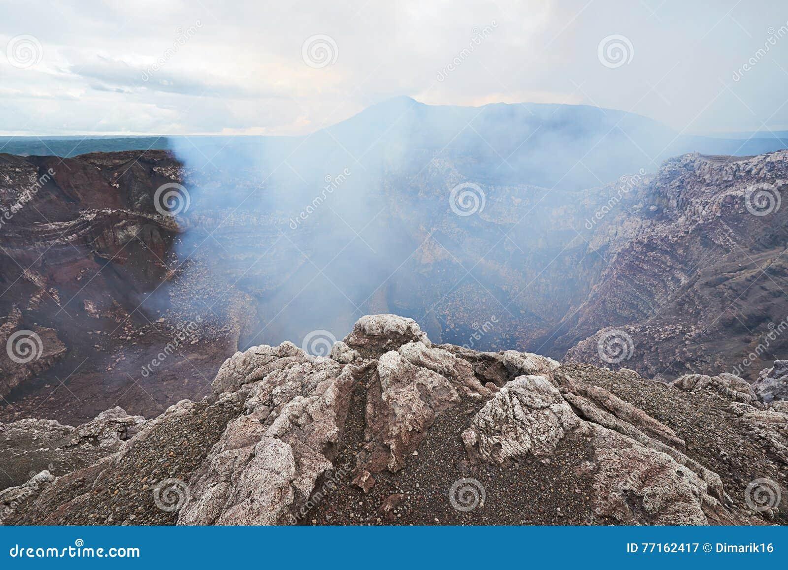 Fumée venant du volcan
