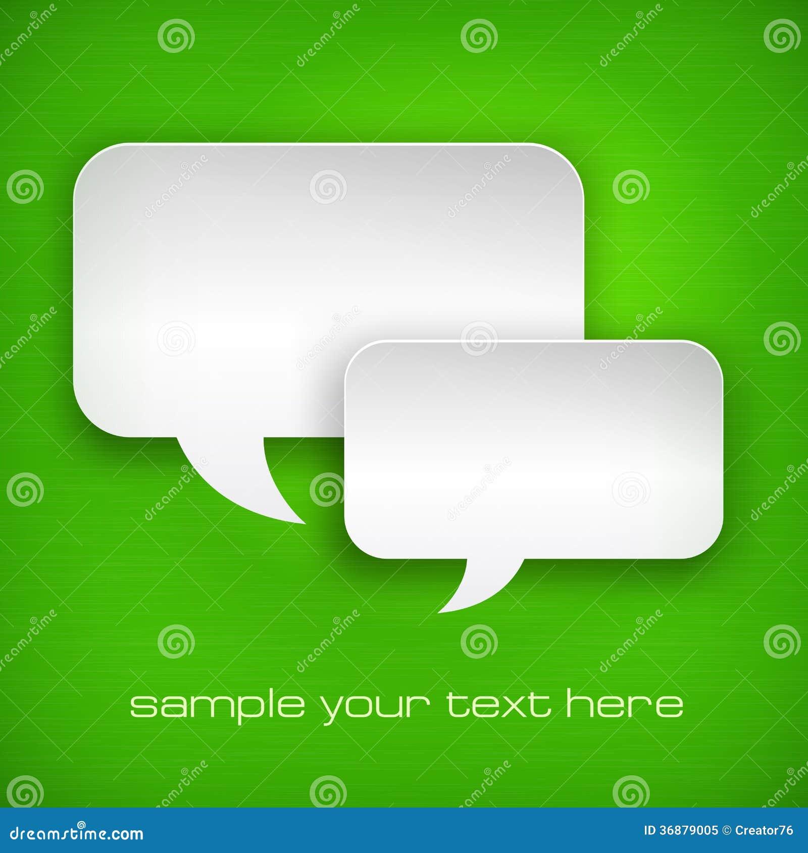 Download Fumetti bianchi su verde illustrazione vettoriale. Illustrazione di telaio - 36879005