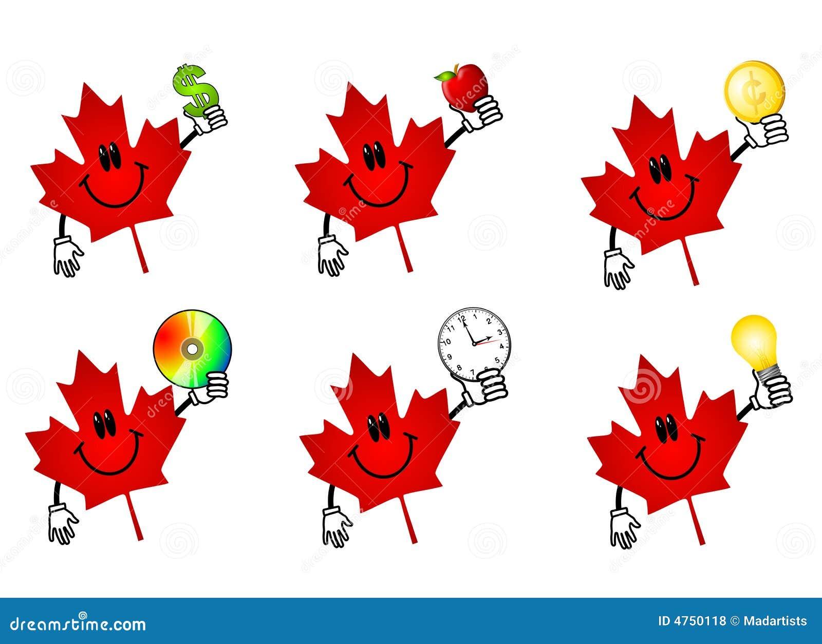 Fumetti canadesi della foglia di acero fotografie stock - Foglia canadese contorno foglia canadese ...