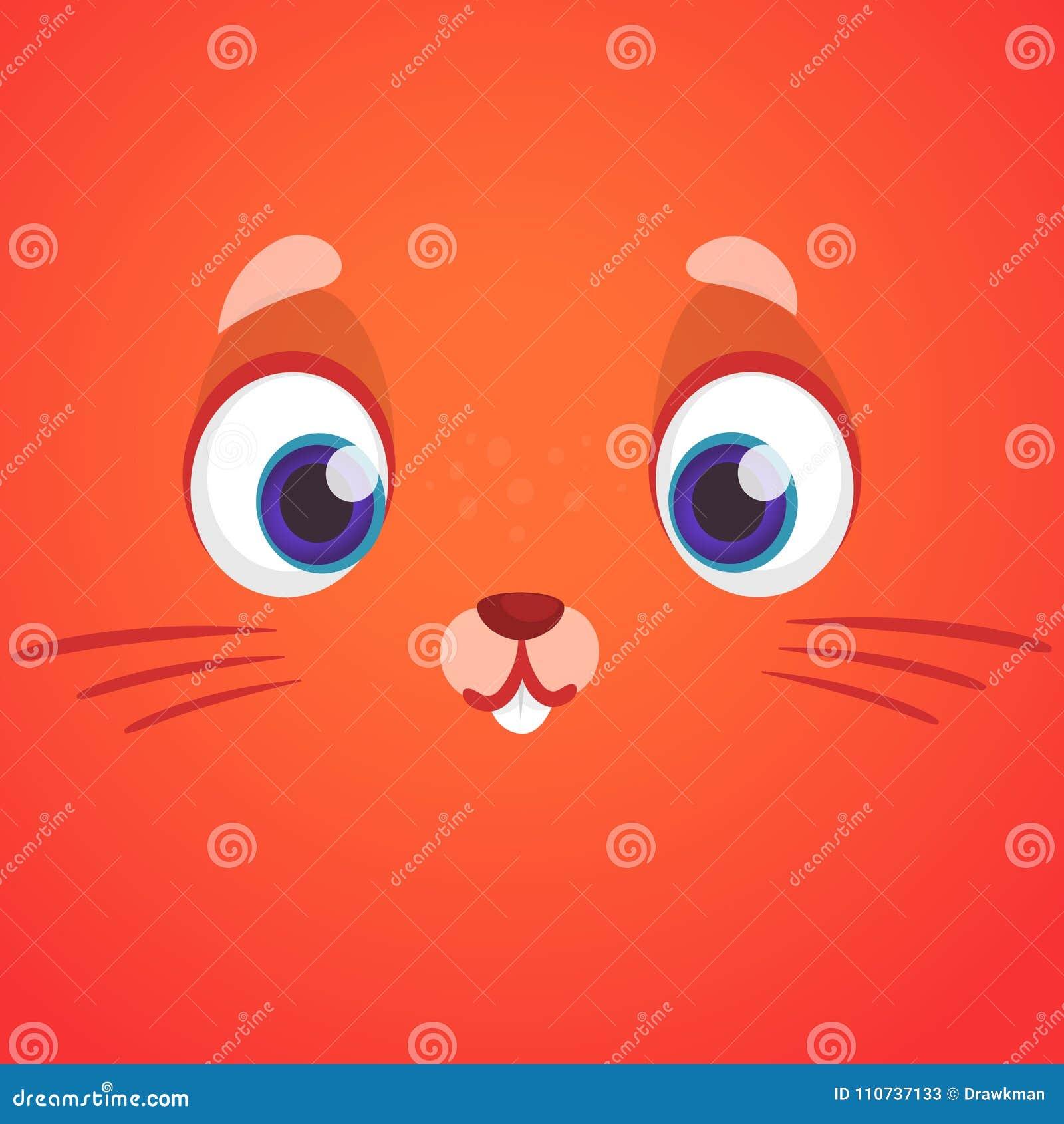 Fumetto animale sveglio del fronte della volpe illustrazione di