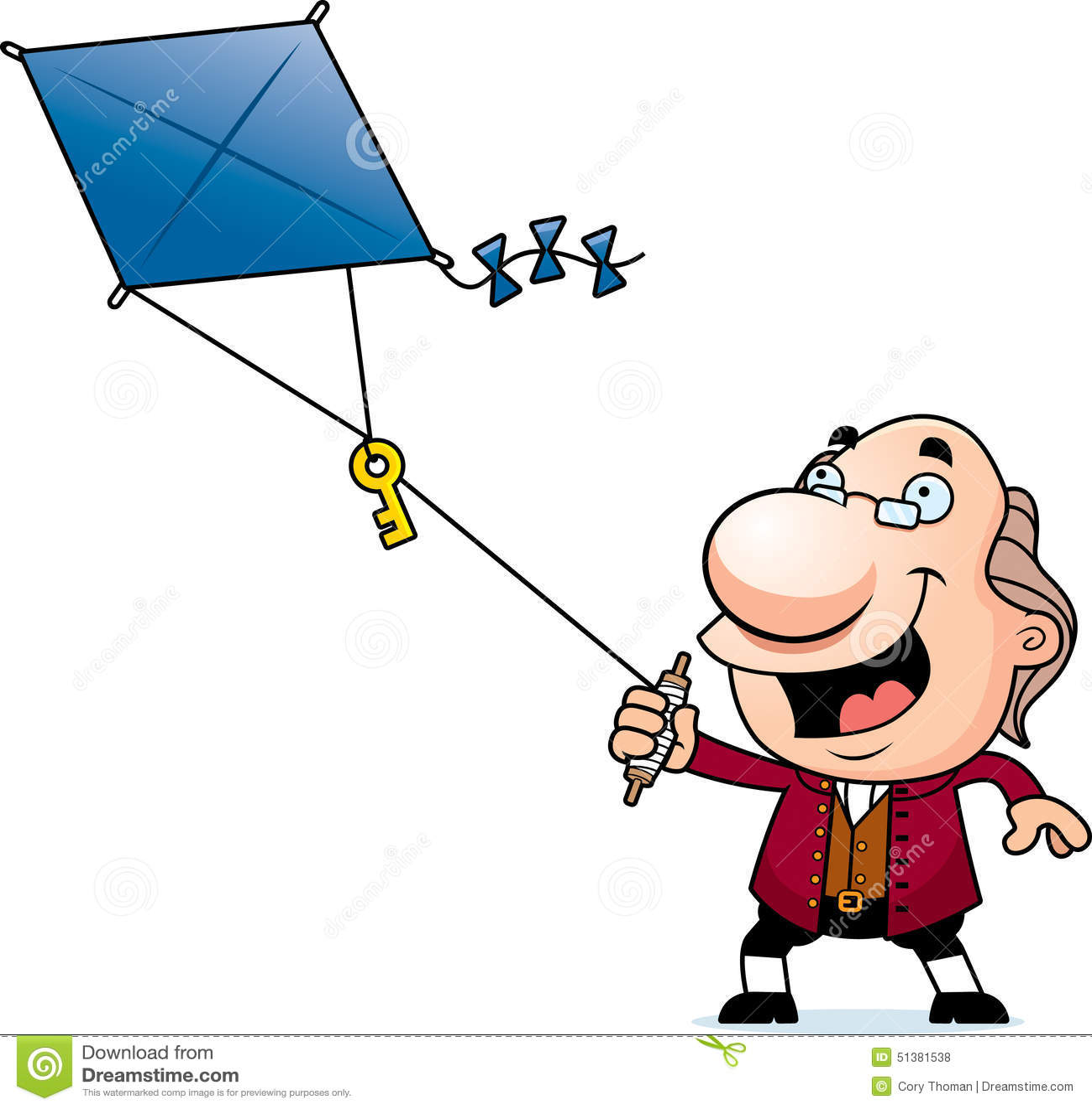 Fumetto Ben Franklin Kite