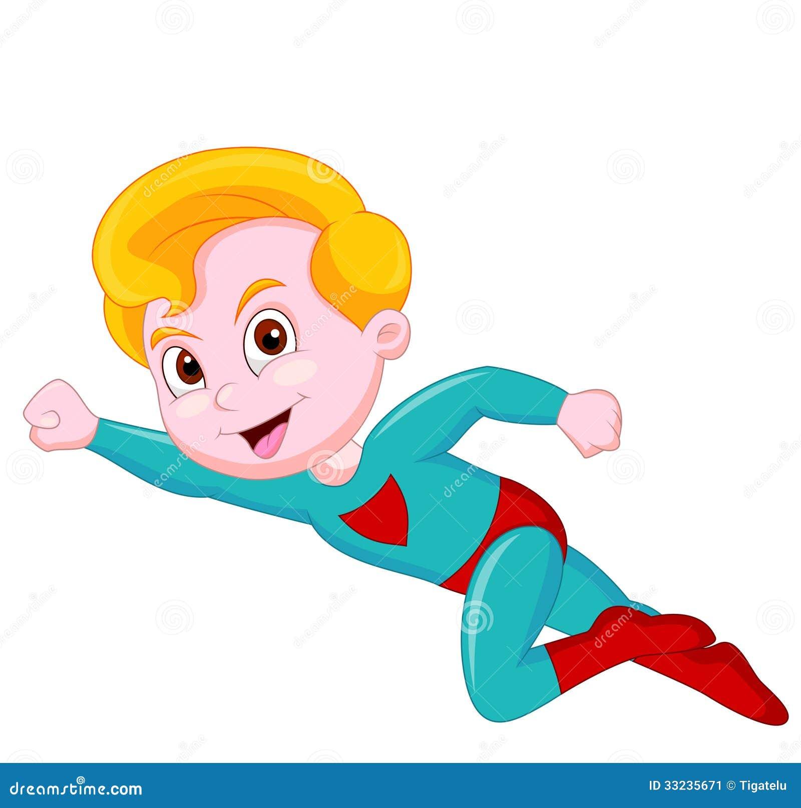 Fumetto del bambino del supereroe