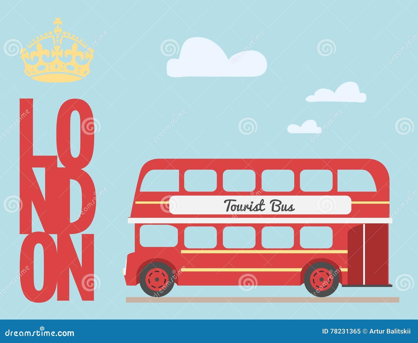 Fumetto dell 39 autobus a due piani da rosso turistico for Nuovi piani di casa inghilterra