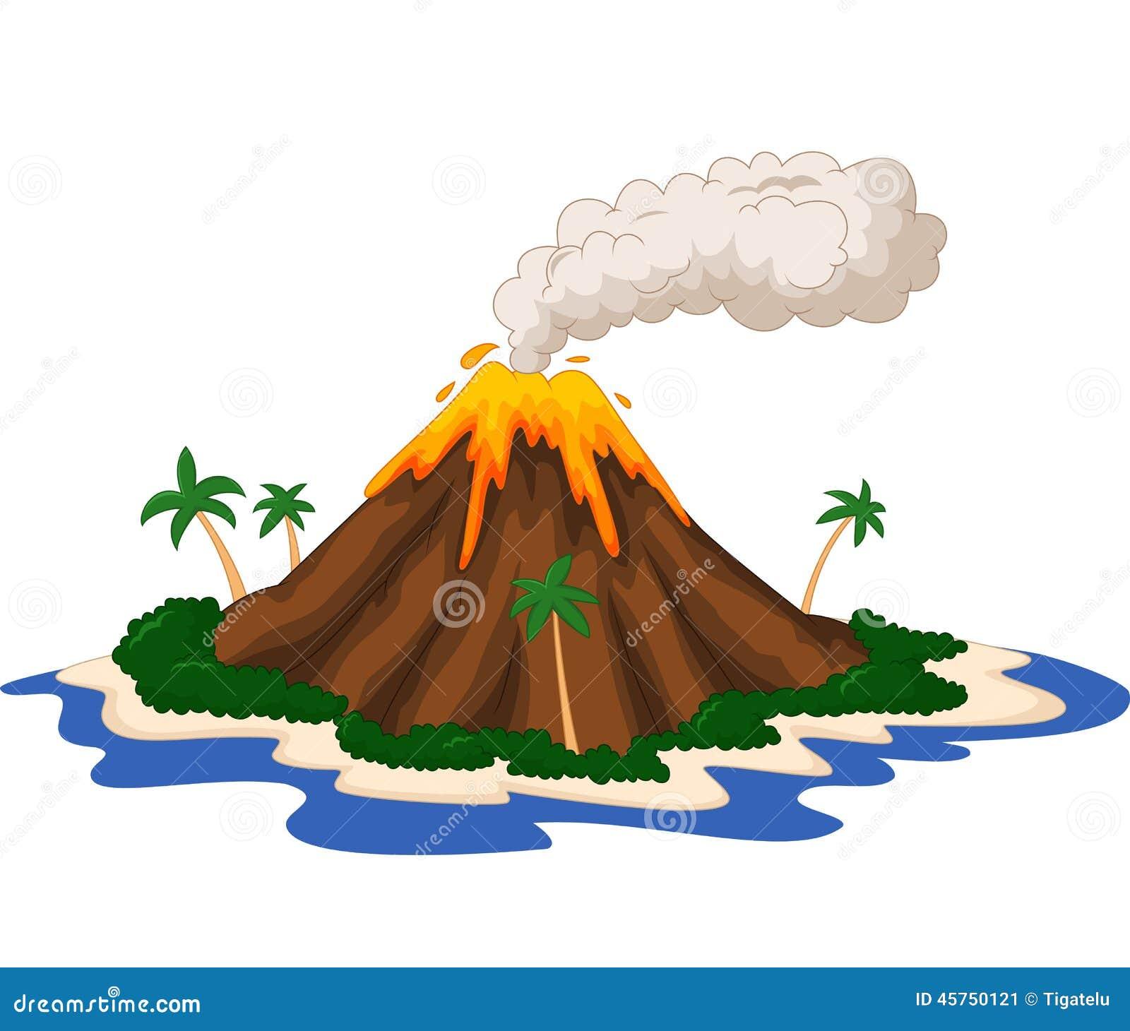 Fumetto dell isola vulcanica
