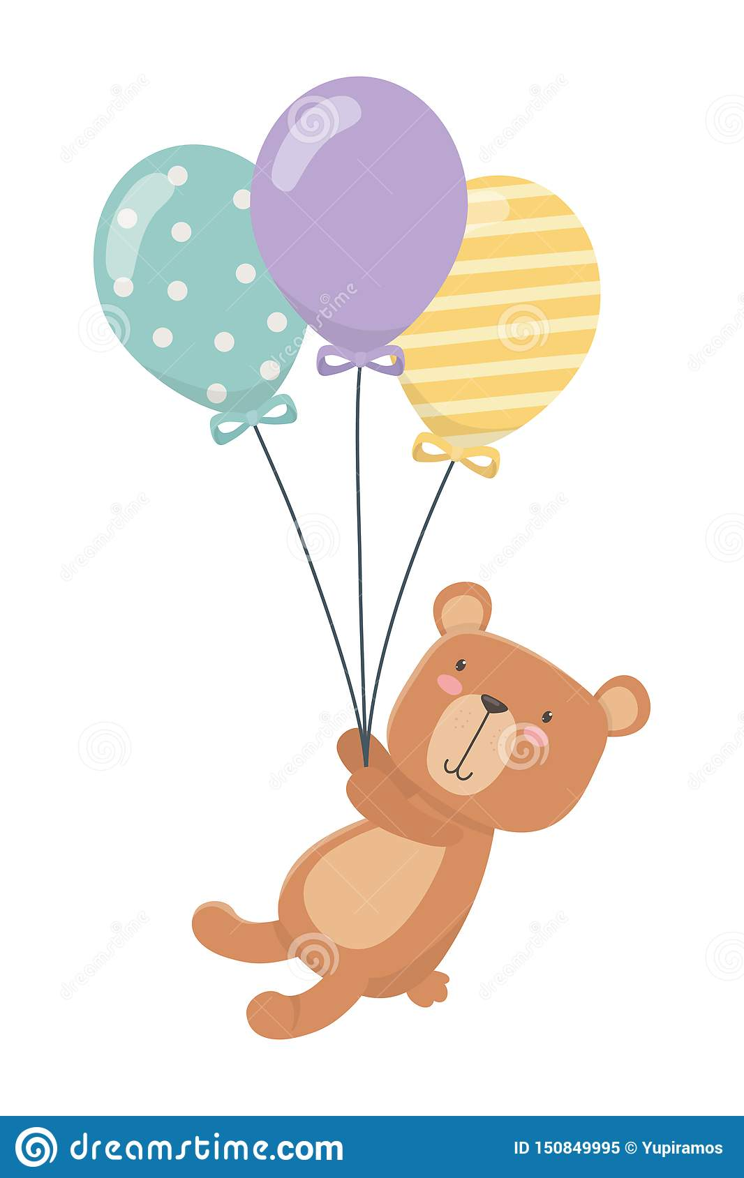 Fumetto dell orsacchiotto e progettazione dei palloni
