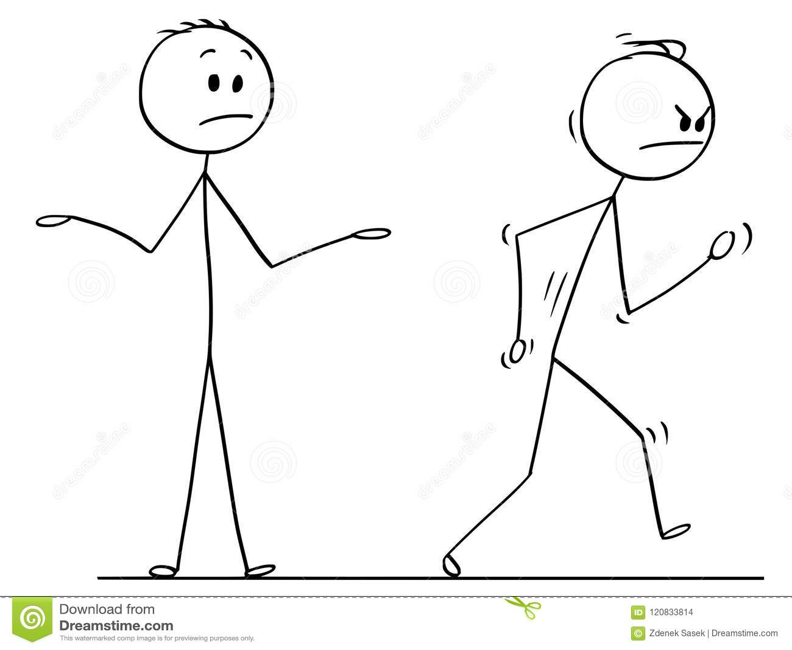 Fumetto dell uomo arrabbiato che lascia vigoroso conversazione