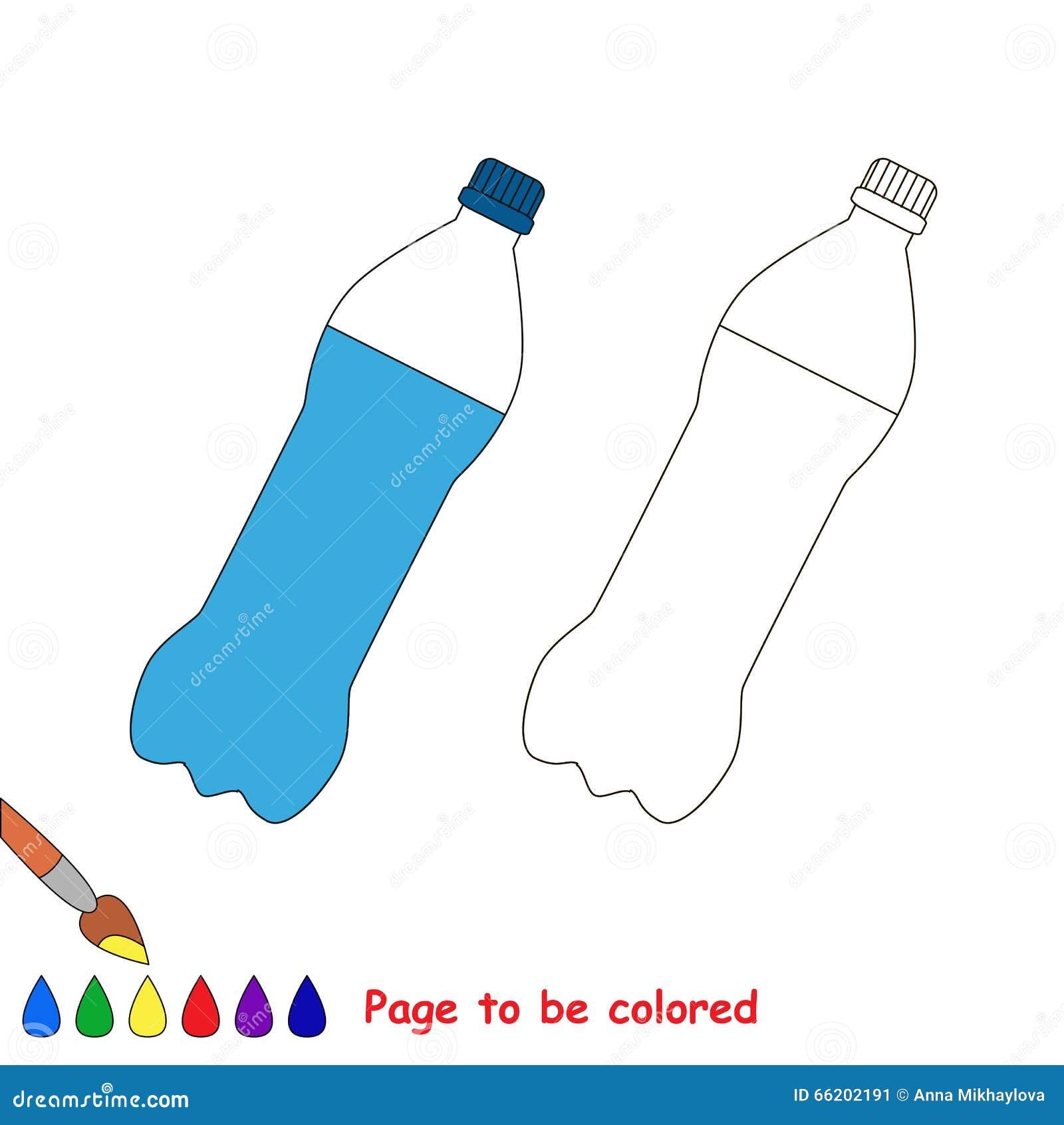 Estremamente Fumetto Della Bottiglia Pagina Da Colorare Illustrazione  PU64