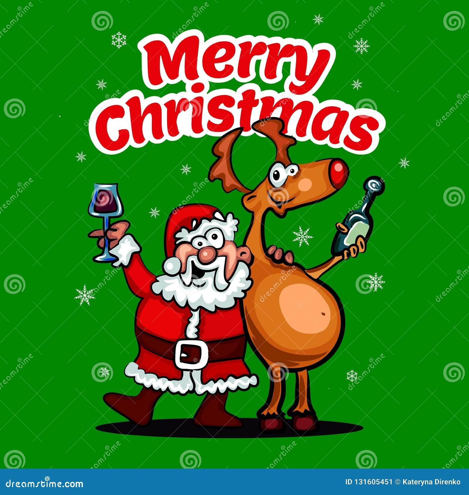 Foto Di Natale Divertenti.Fumetto Di Santa Di Vettore Con Il Babbo Natale Divertente E