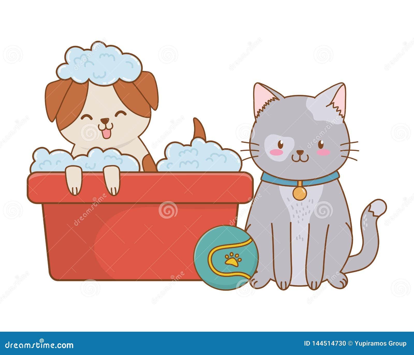 Fumetto divertente sveglio degli animali domestici