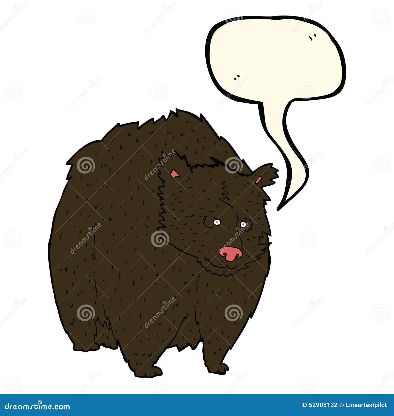 Fumetto enorme dell orso nero con il fumetto