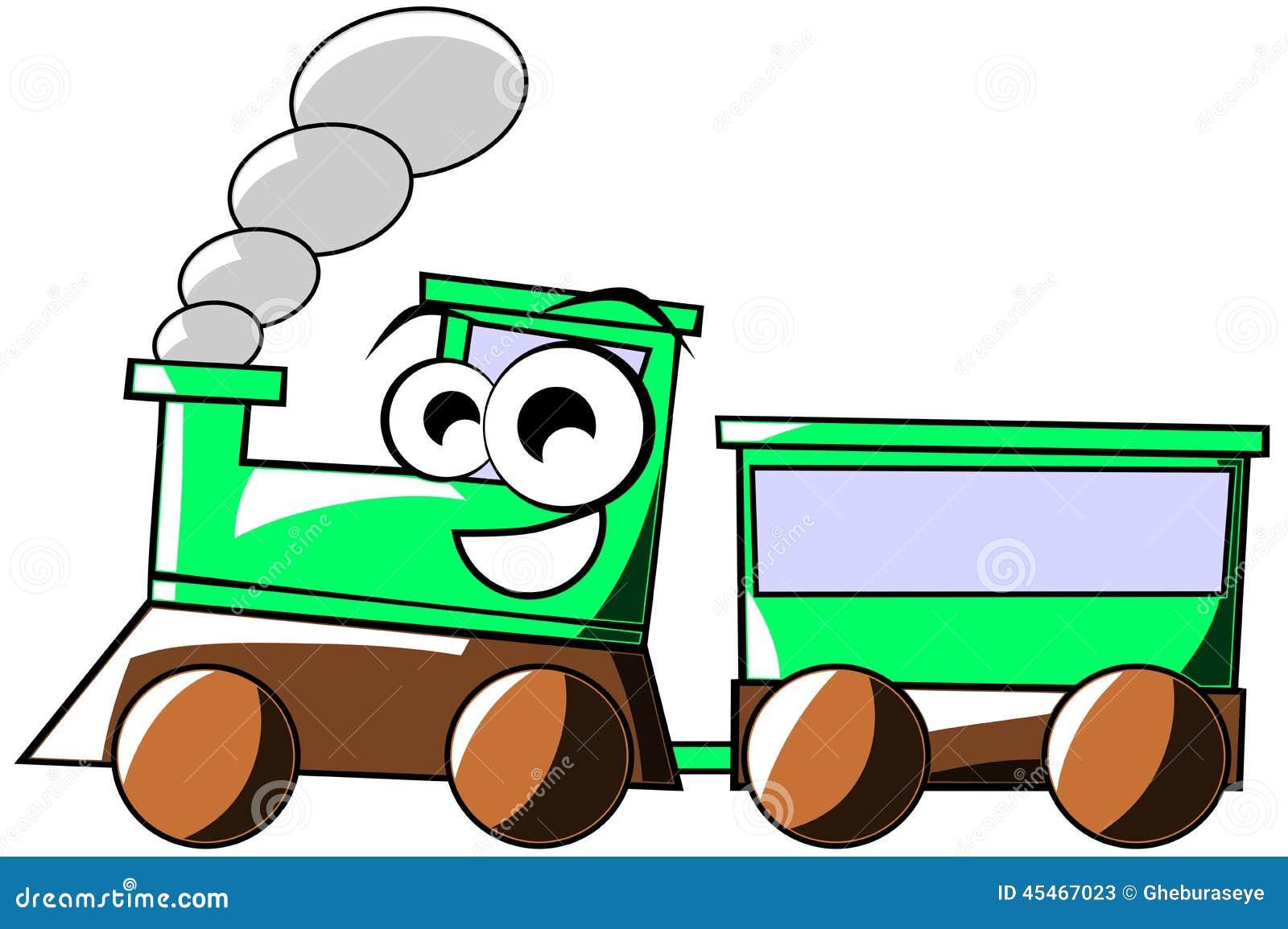 Fumetto felice del treno isolato