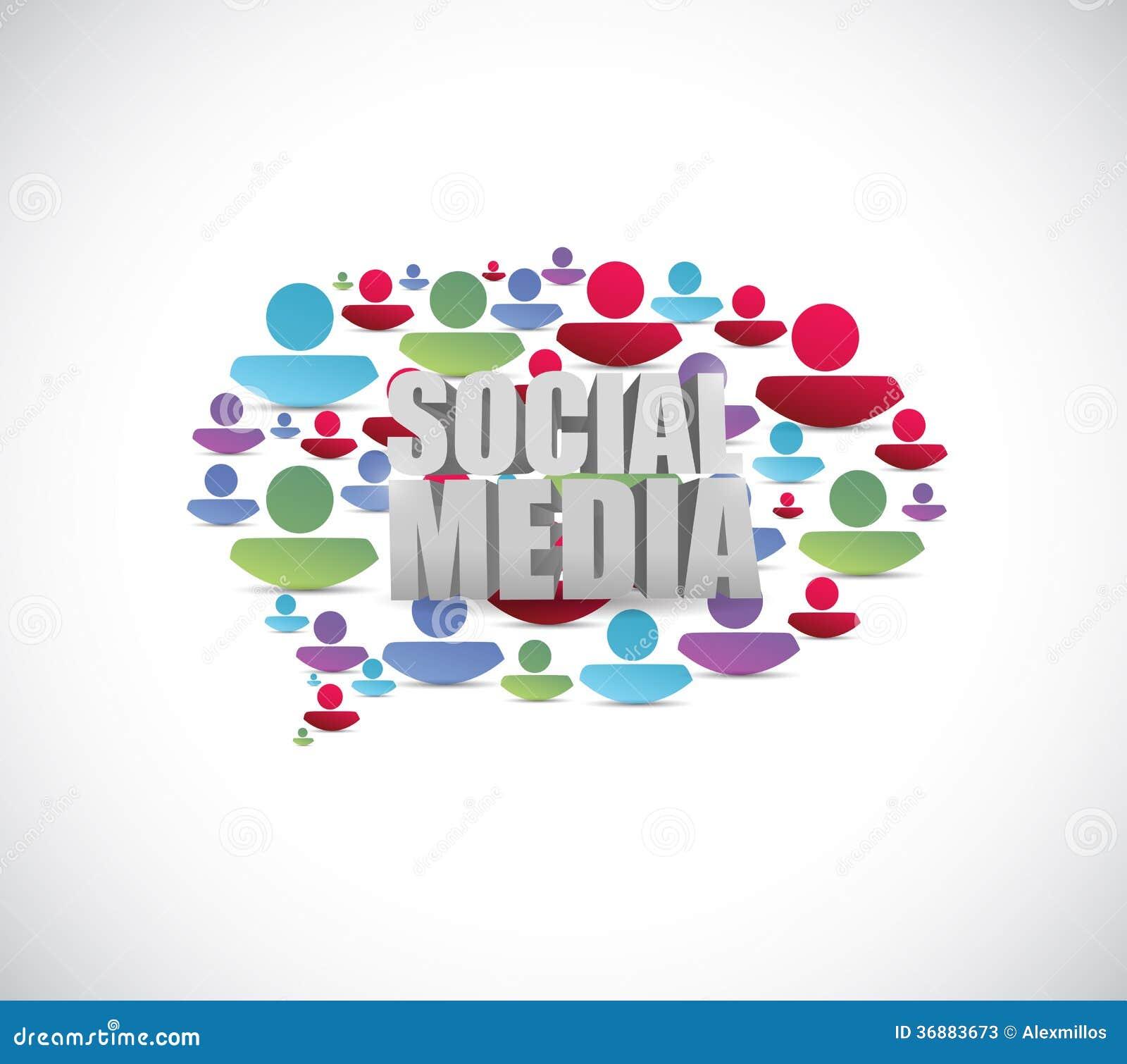 Download Fumetto Sociale Della Gente Di Media. Illustrazione Illustrazione di Stock - Illustrazione di chiacchierata, concettuale: 36883673