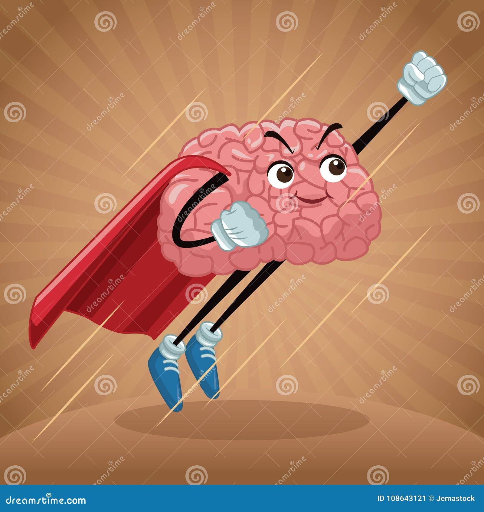 Fumetto sveglio del cervello