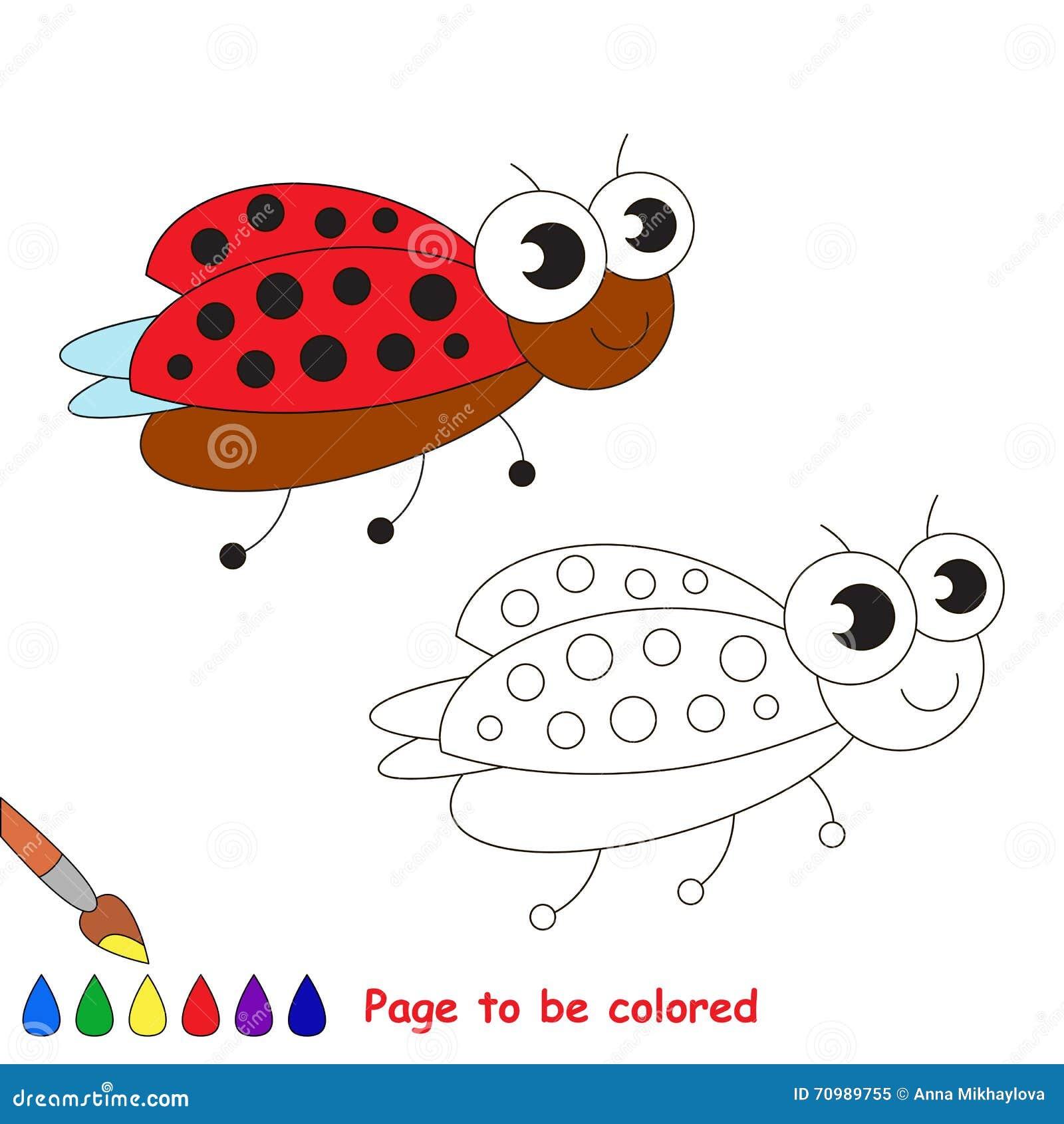 Fumetto sveglio del ladybug pagina da colorare - Libero tacchino da colorare pagina ...
