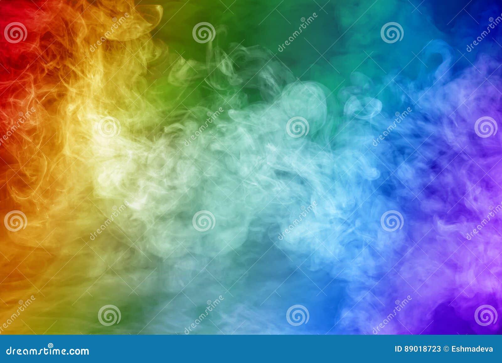 Fumo colorato del Rainbow