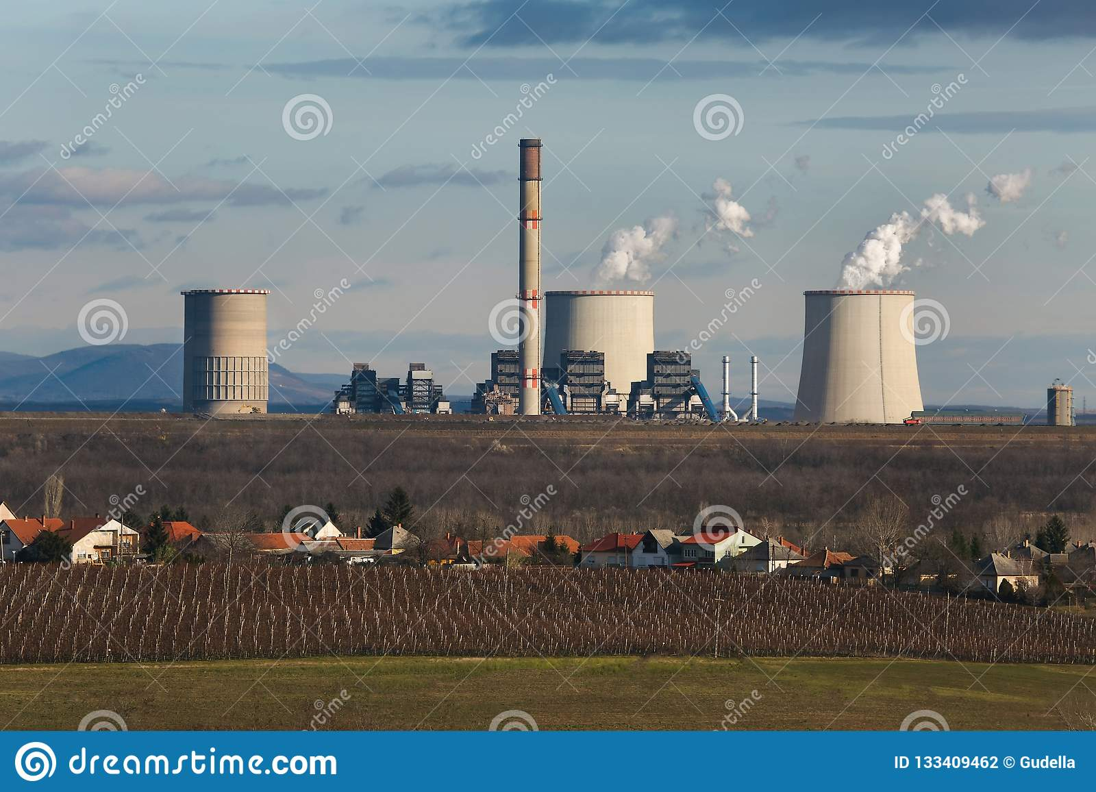 Fumo della centrale elettrica