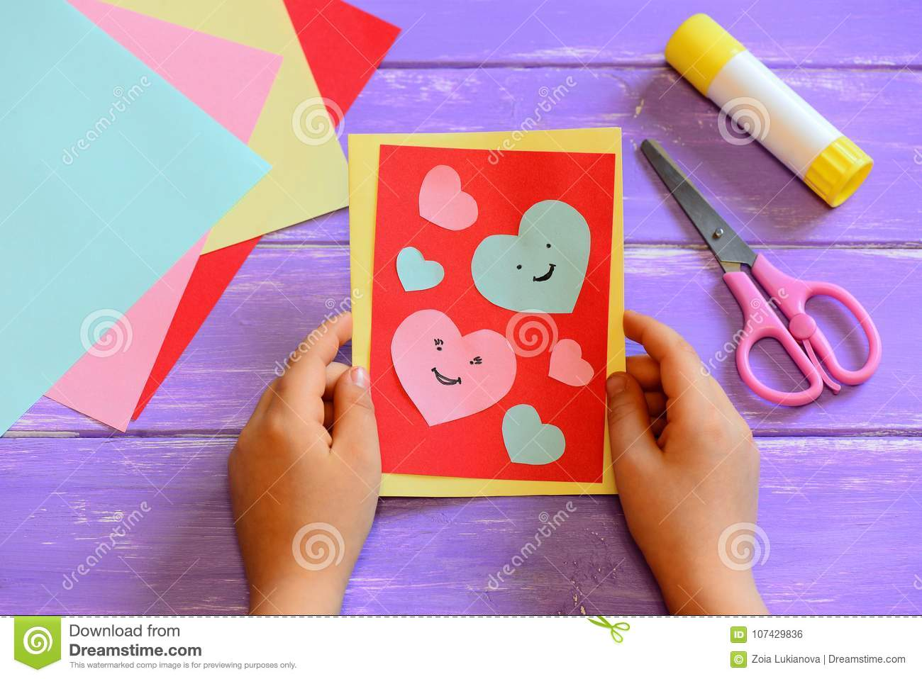 Fun Art And Craft With Paper For Children Crafts Home Easy Kids