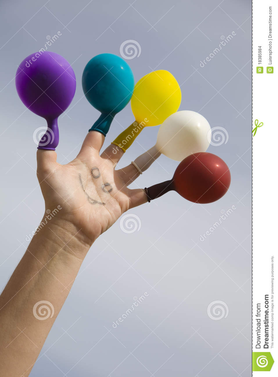 Fun with balloons stock images image 18385984