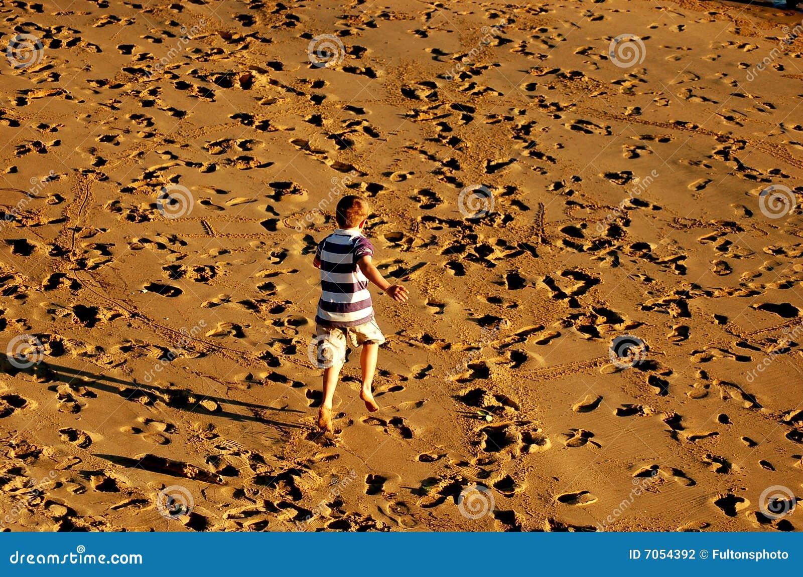 Fun on the beach sand