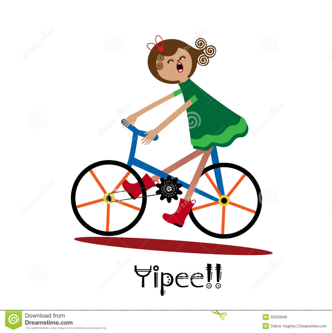 vector clipart fun bike.