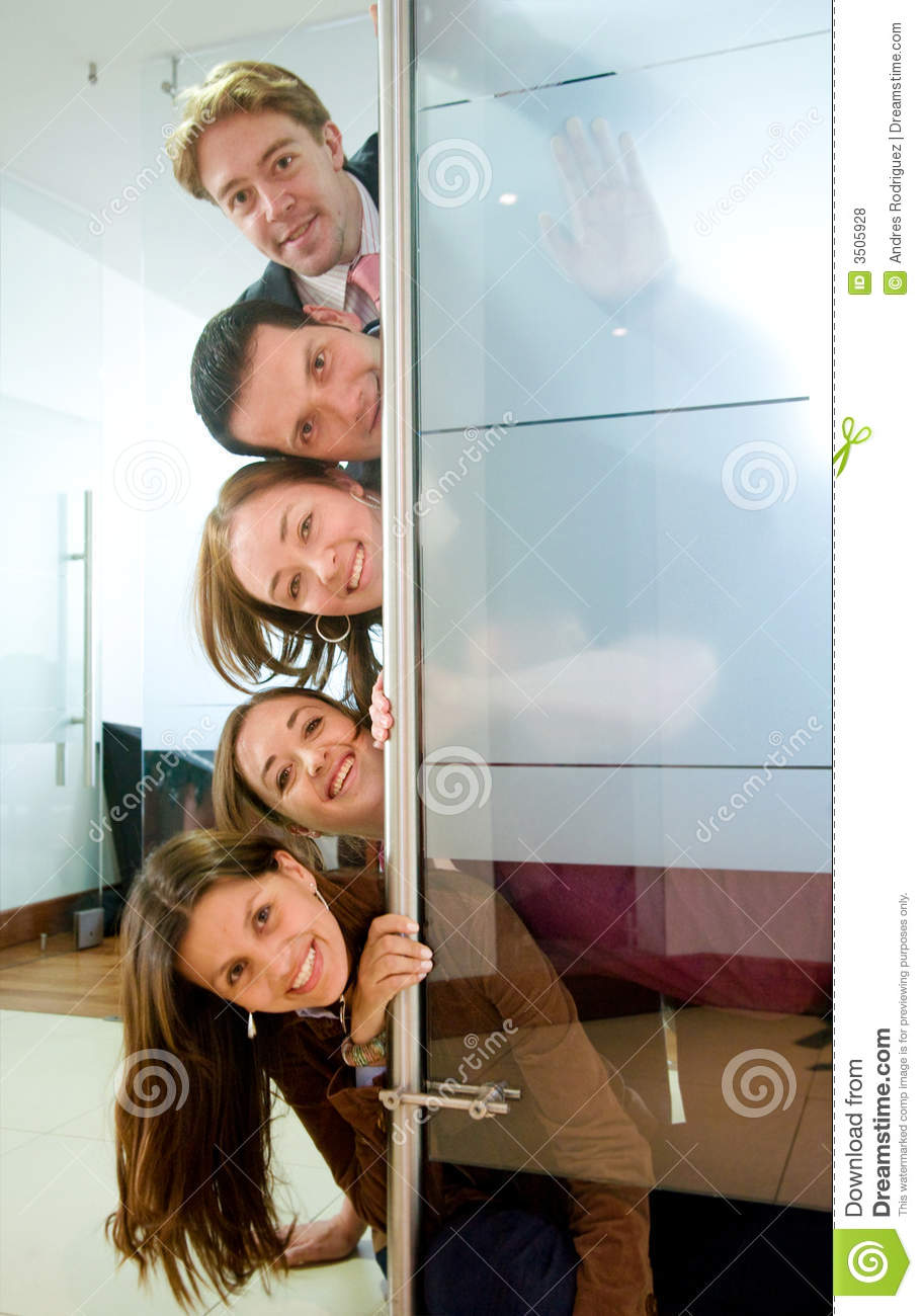 Fun Business Office Team Work Stock Photo Image Of