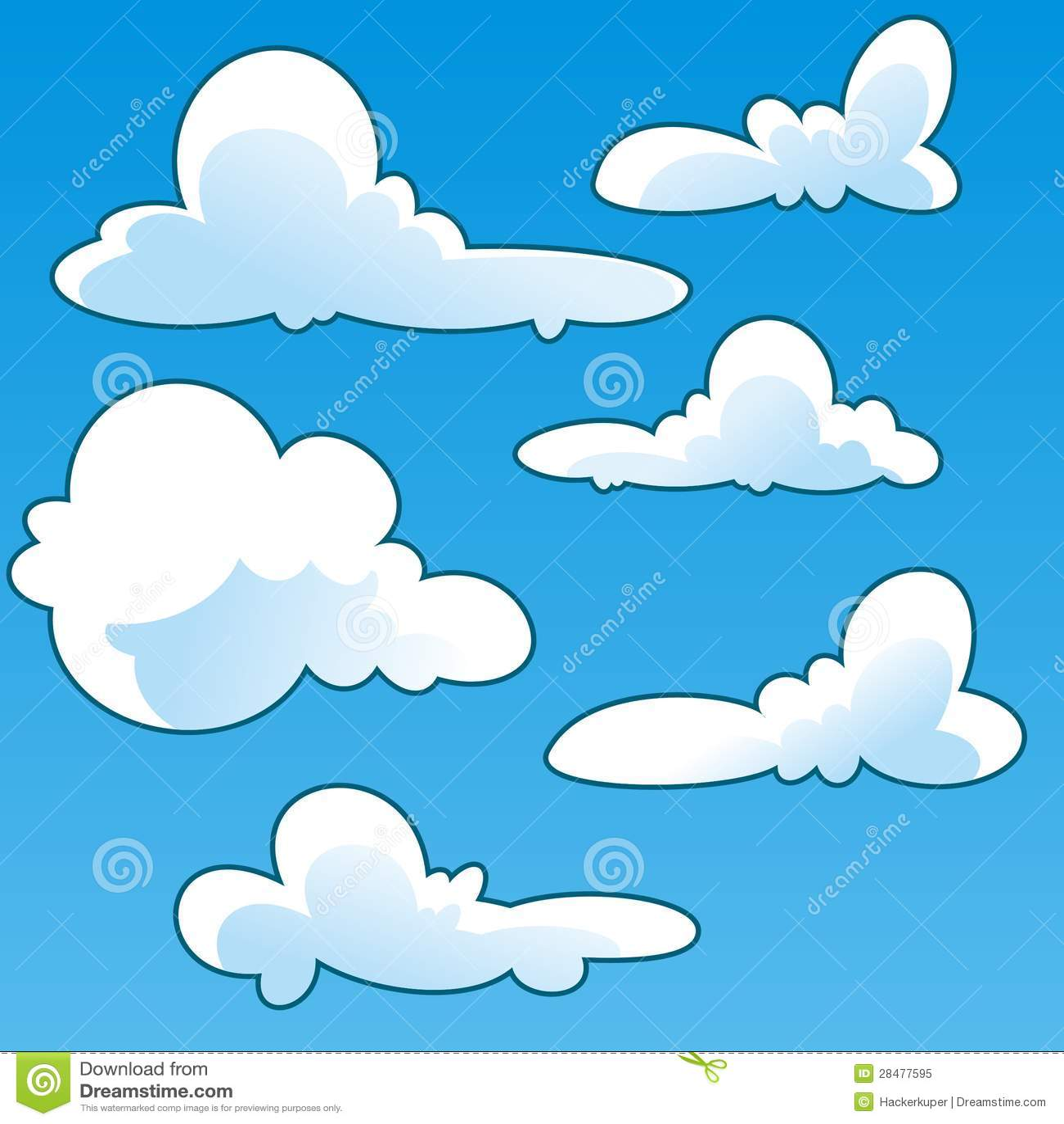 fun cloud cartoon vector template stock vector illustration of