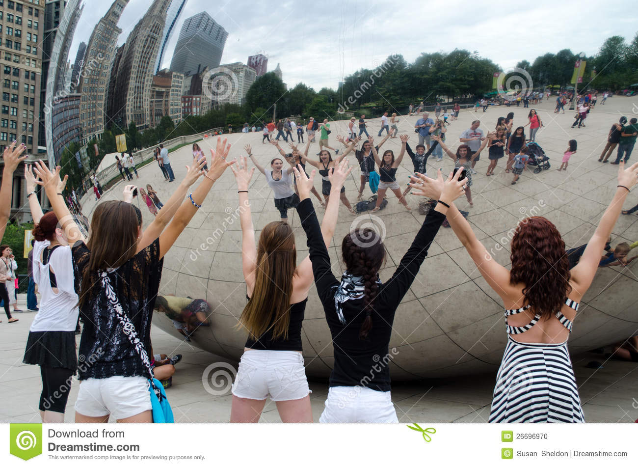 Fun At The Cloud Gate Editorial Image Image 26696970
