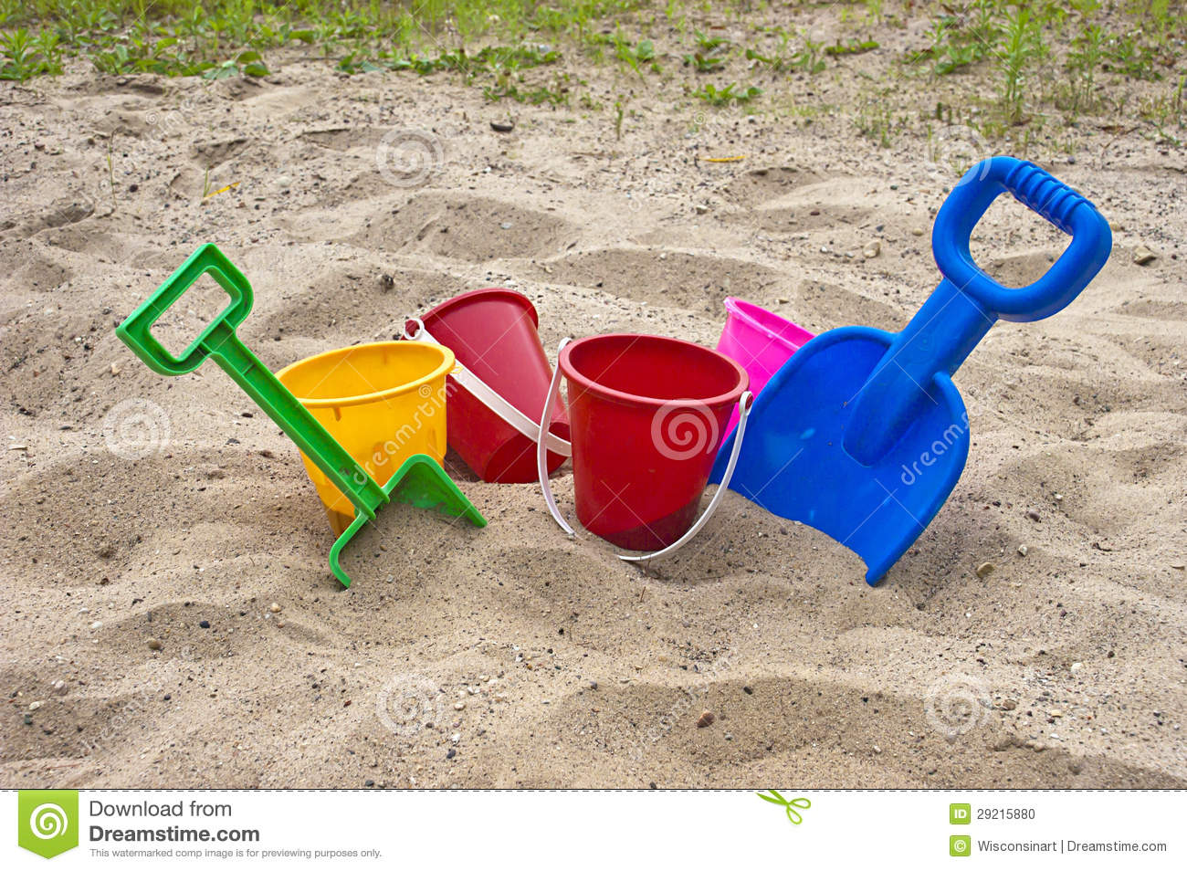 Toys For Beach : Fun colorful children beach toys and sand stock photo