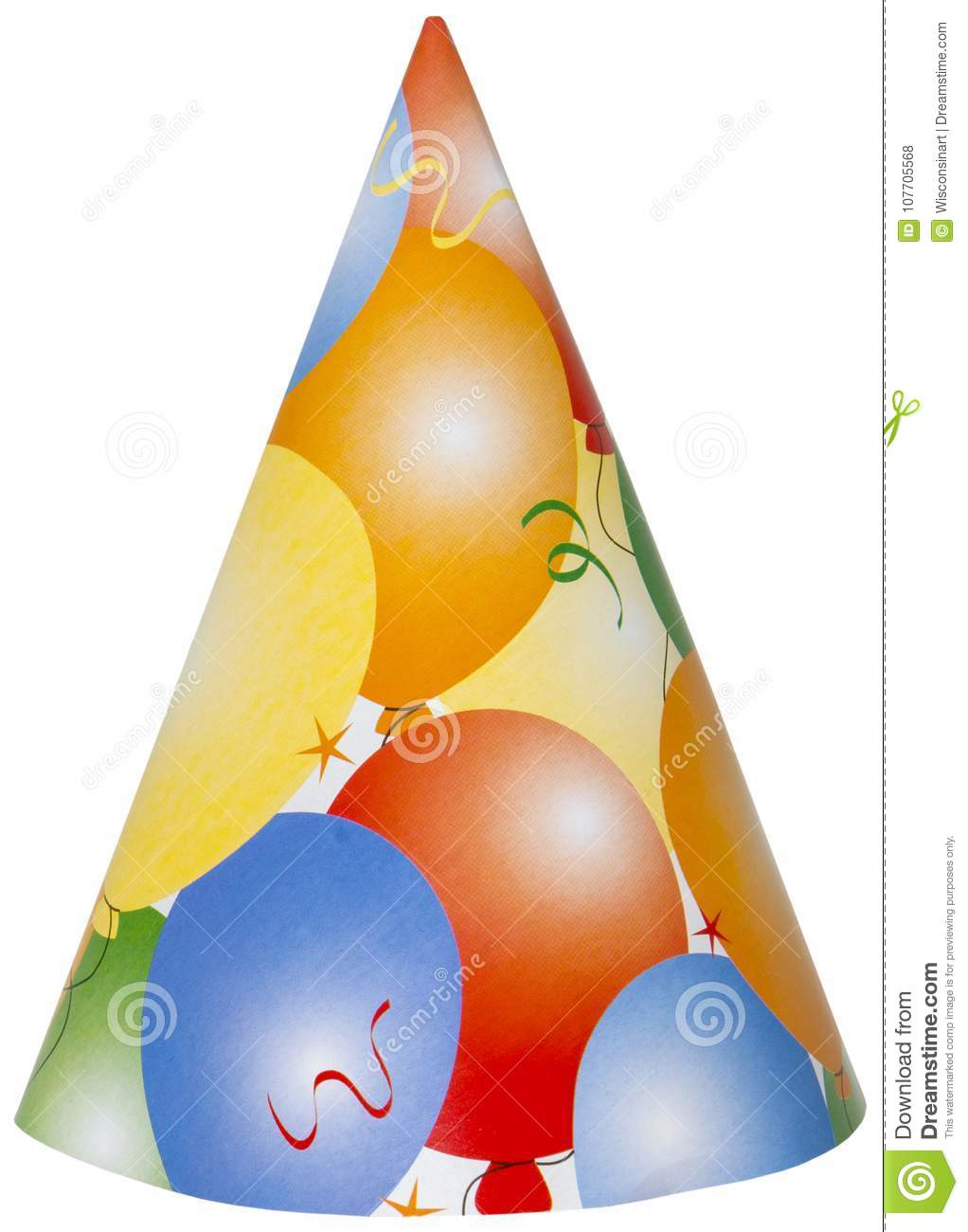 Happy Birthday Party Hat Isolated PNG