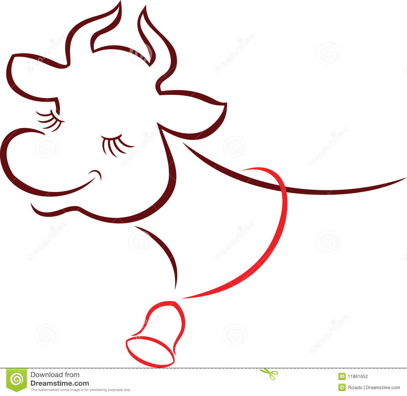 Fun Cow Stock Photography - Image: 11861652